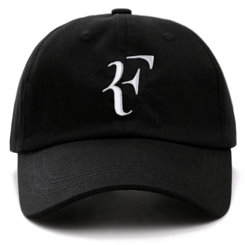 Unisex Brand   Caps   Tennis Star Roger Federer Dad Hat Sport   Baseball     Cap   Cotton 3D Embroidery Tennis Hat F Letter Snapback Hats