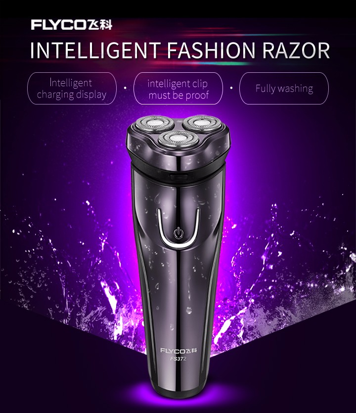 FLyco Professional Body Washable Electric Shaver for Men lasting 45 Minutes Rechargeable Electric razor 3D Floating HeadS FS372 7