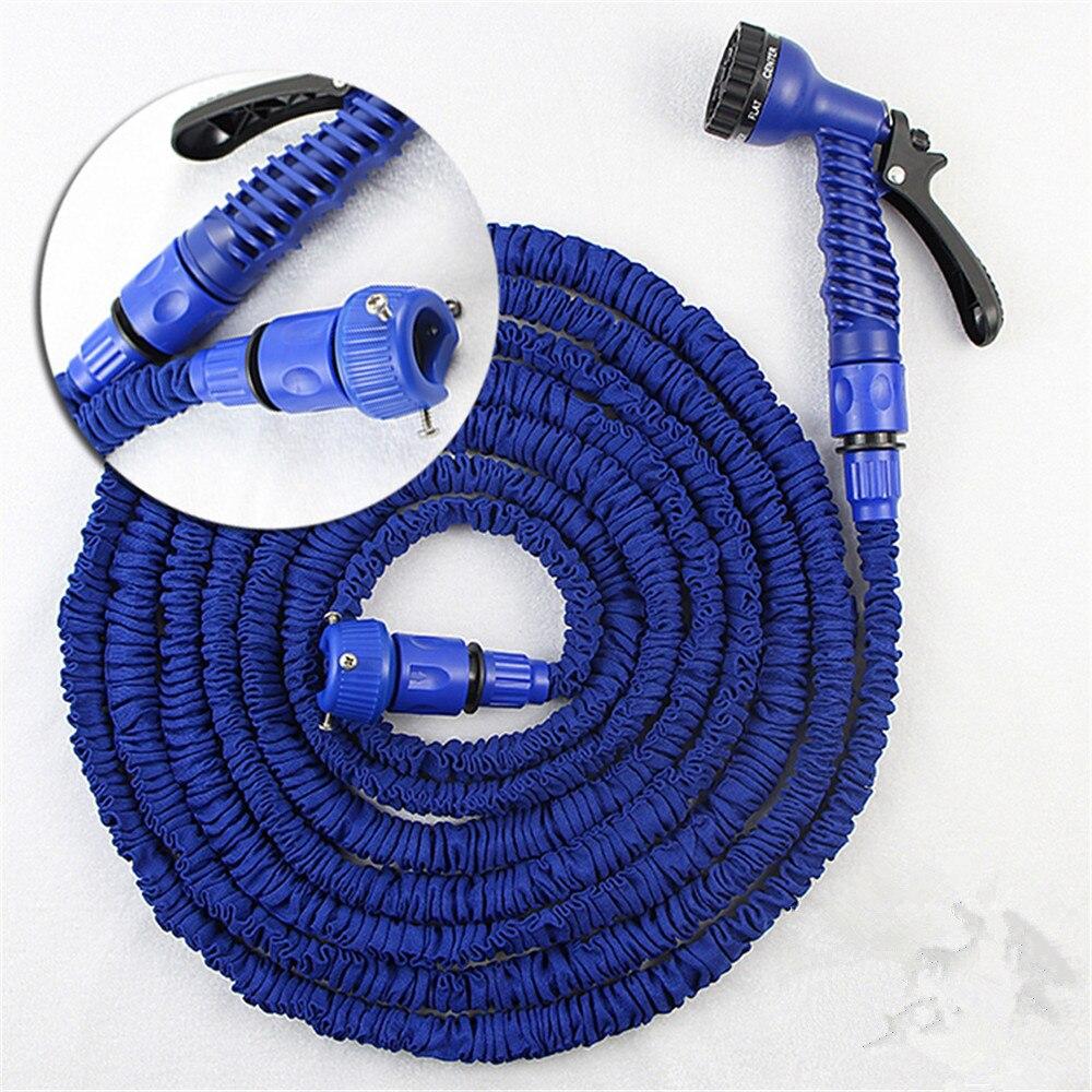 Deluxe 100 150 200 Ft Expandable Flexible Garden Water Hose Spray Nozzle