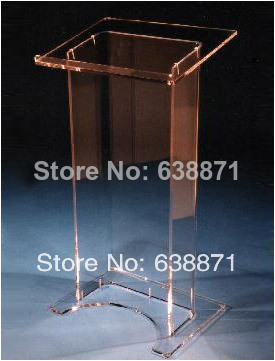 Free Shiping High Quality Beautiful Customized Acrylic Desktop Lectern Cheap Acrylic Lectern
