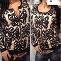 YHKGG Oversize Casaco Blusas Roupas Florais 2016 Nova Moda de Alta Qualidade Atmosfera Com Zíper Outono Inverno das Mulheres MY018