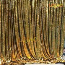 LQIAO 8ftx8ft Reversible Sequin Backdrop Gold and Black Mermaid Fish Scale Sequin Curtain for Wedding Photo Booth Decoration