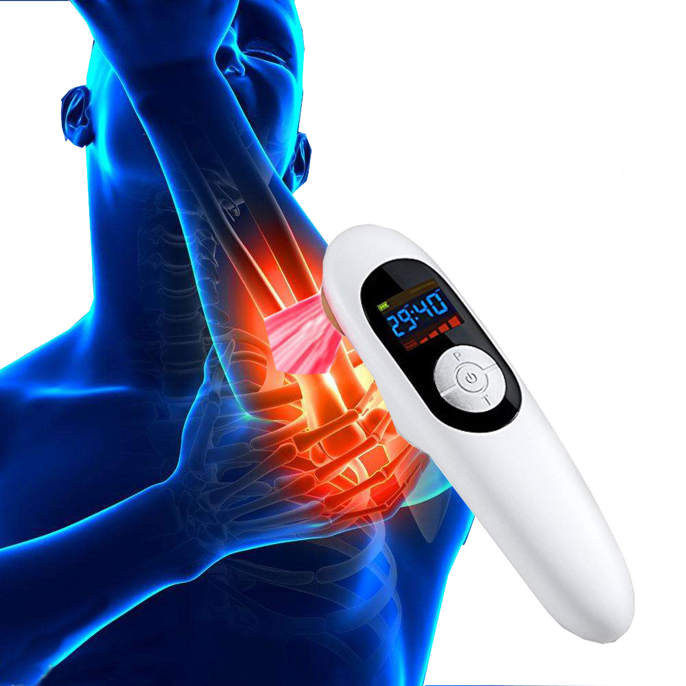 LASPOT Low Lever Laser Therapy Red Cold Laser Acupuncture Physiotherapy Tennis elbow Cure Pain Arthritis Meniscus injury+Gift laspot arthritis pain relief medical physiotherapeutic infra red low level laser therapy machine