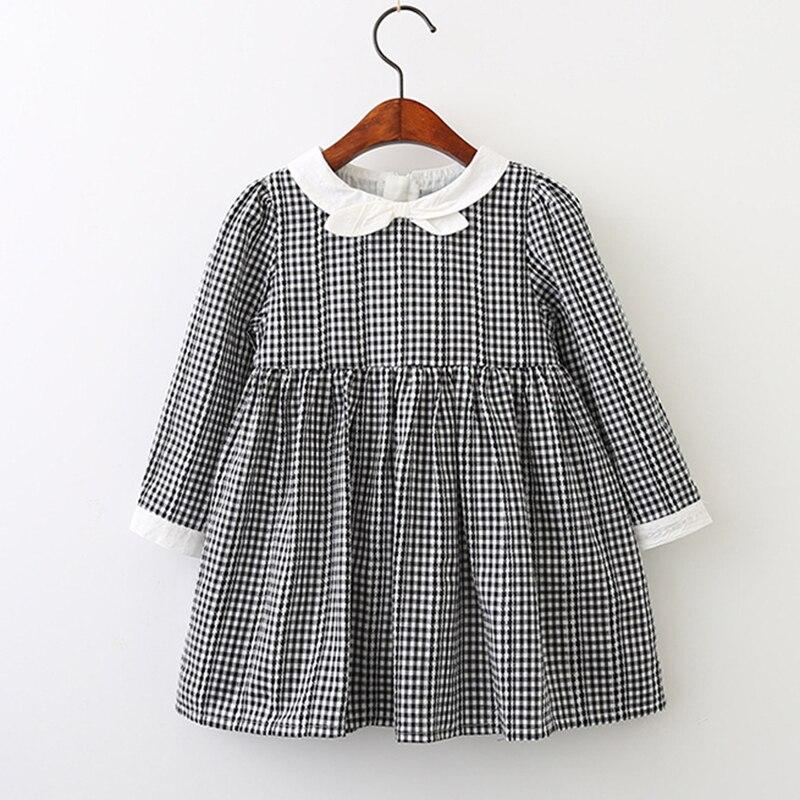 Chico ropa de bebé vestido de 2018 nueva Preppy, estilo de otoño, vestido de las niñas de manga larga arco princesa vestido de diseño chico s ropa vestido de fiesta