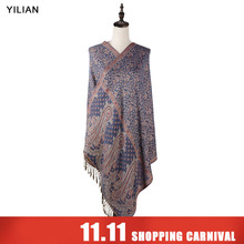 hot deal buy yilian brand print paisley retro persian pattern shawl women autumn and winter fashion cotton scarf for lady ll002
