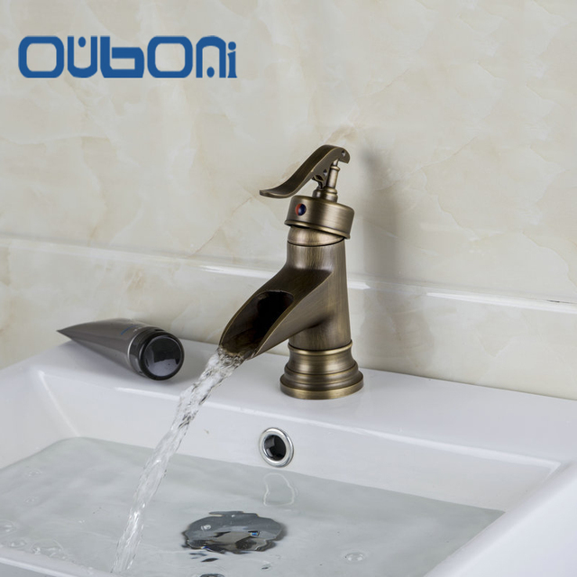 Ouboni New Bathroom Faucet Single Handle Sink Faucet Hot And Cold
