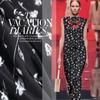 2017 New Fashion Exclusive Herringbone Printed Chiffon Silk Yarn Fabrics Of Silk In Summer