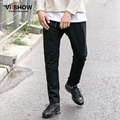 VIISHOW Pants Men Slim Fit Long Balck Regular Sweatpants Casual Mens Straight Trouser With Zip Pocket for Men KCY3563