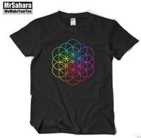 2016 The New Rock Band T Shirt Coldplay Full Brain Dream With Short Sleeves T Shirt