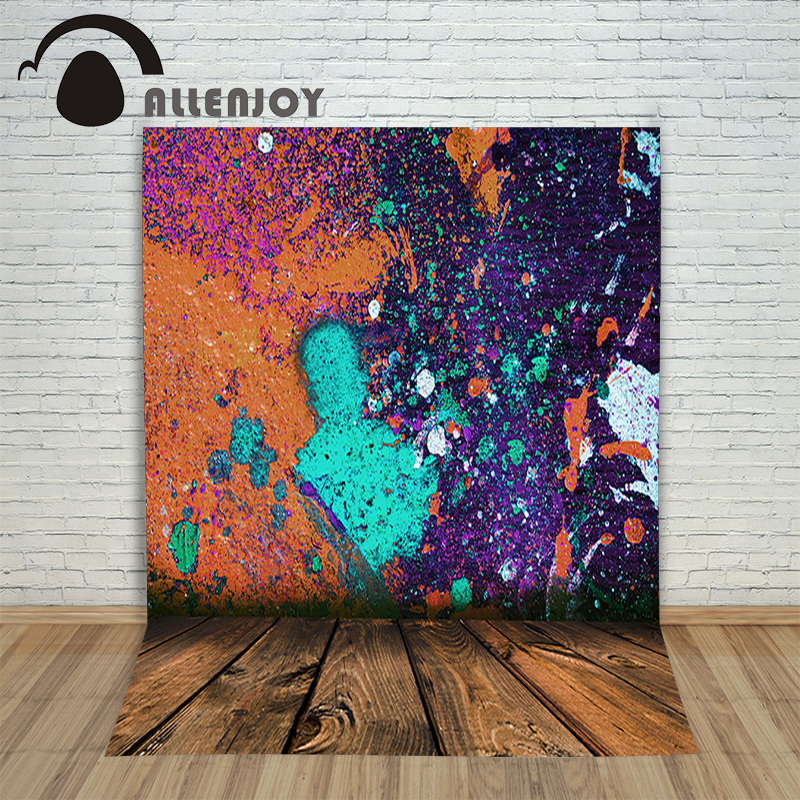 Allenjoy vinyl photography backdrop Graffiti wood fashion paint children's background for photo shoots fabric
