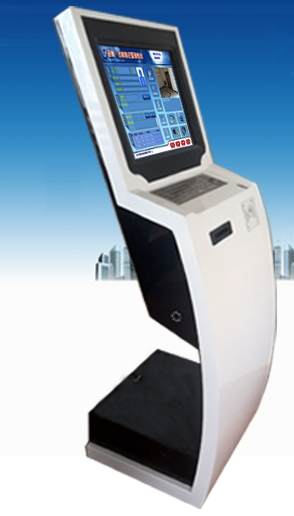 LCD Tft Hd Cctv Monitor Display Interactive Face And Fingerprint Recognition Visitor Management System Kiosk Time Recording