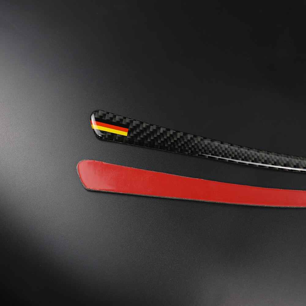 Sợi Carbon Đèn Pha Lông Mày Gương Chiếu Hậu Chống Chà Dải Dán Nắp Trang Trí Bên Ngoài cho XE BMW F30 F31 F32 F33 f34