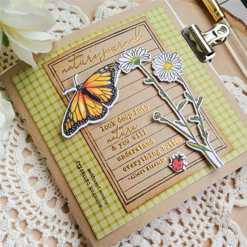 Field Notes Decorative Metal Cutting Dies Stencil Scrapbooking Photo Album Decor Paper Card Making Decor DIY Embossing Crafts