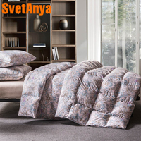 Svetanya Printed Goose Down Duvet 3d quilted Quilt king queen full size Comforter Winter Thick Blanket Colorful Luxury