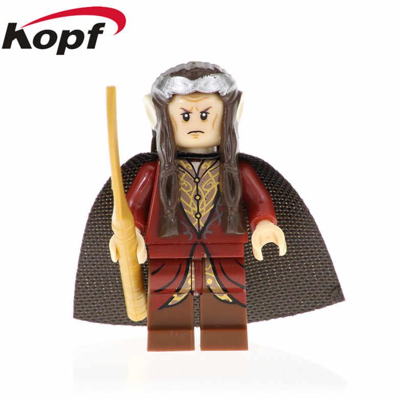 PG542 Đĩa Đơn Bán Nhân Vật Chúa Tể của những chiếc Nhẫn Series Gandalf Elrond Galadriel Thị Trưởng Arwen Khối Xây Dựng Cho Trẻ Tặng Đồ Chơi
