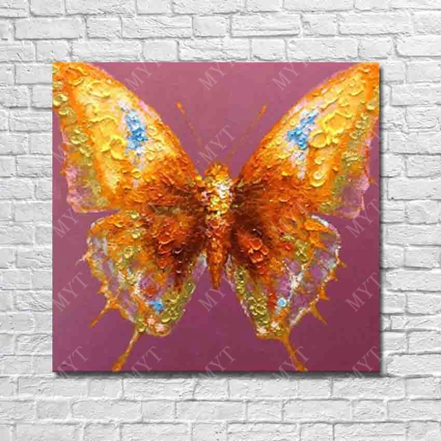 Butterfly Flying Canvas Wall Art Oil Paintings Hand Drawing Gallery Painting Nice Design Beautiful Decor