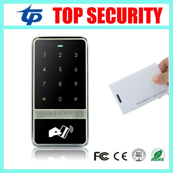 IP65 waterproof outdoor use smart card access controller standalone single door access control system touch keypad card reader good quality smart rfid card door access control reader touch waterproof keypad 125khz id card single door access controller