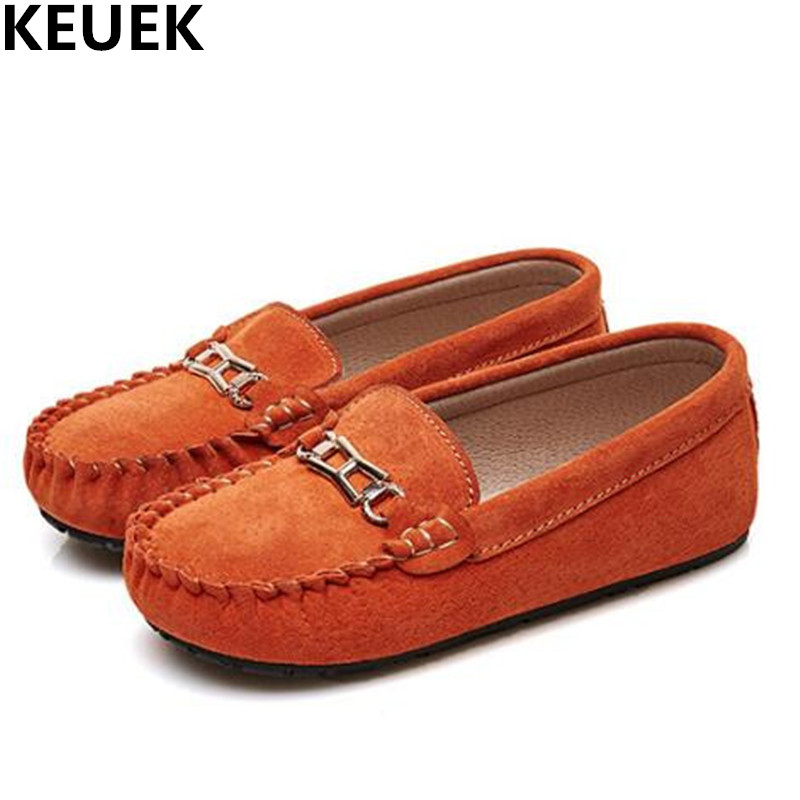 New Spring Single Shoes Children Genuine Leather Casual Shoes Boys Loafers Flats Girls Shoes Baby Kids Leather Shoes 04