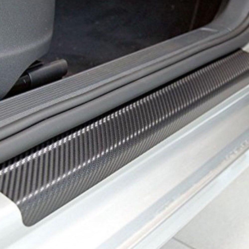 4 pegatinas universales para protectores de puerta de alféizar de coche para decoración de interiores automóvil, accesorios de calcomanía de cubierta antiarañazos