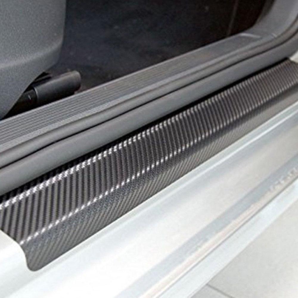4pc Car Sill Door Protectors Stickers Universal For All Autmobile Interior Decoration Anti Scratch Scuff Cover Decal Accessories