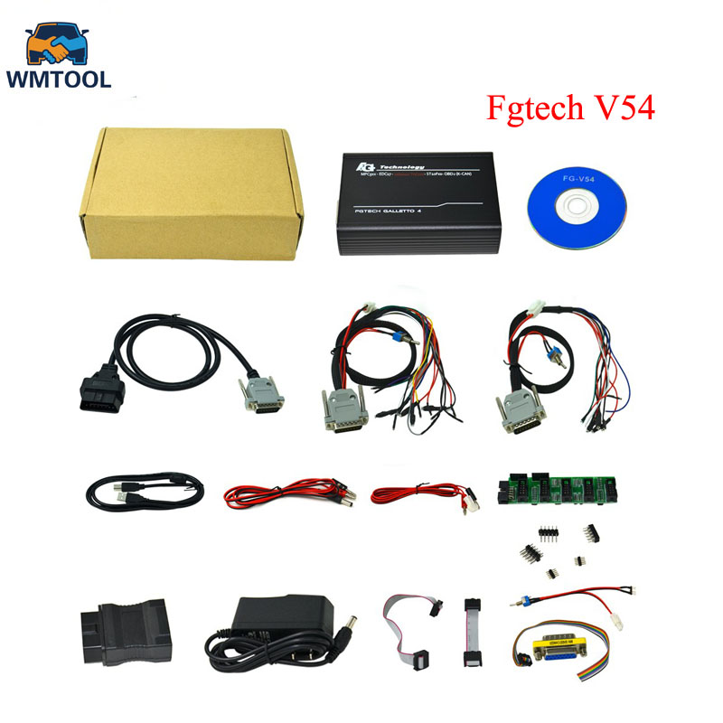 Ensemble complet Fgtech Galletto 4 Maître v54 Fgtech FG Tech Galletto BS Soutien Soutien BDM Bdm-tricore-obd Fonction OBD OBD2 K-CAN Scan