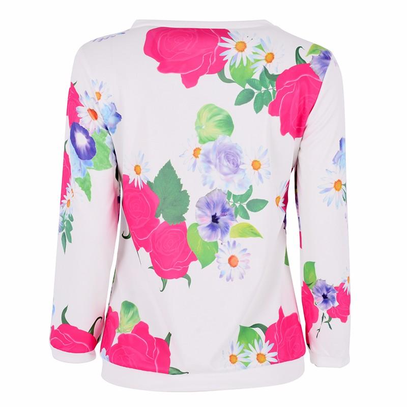 HTB1kLs8LVXXXXXfapXXq6xXFXXXQ - Autumn Women Girl Long Sleeve Floral Print T Shirts
