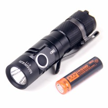 Manker E11 800 Lumens Cree XP-L LED Flashlight Pocket Mini EDC Torch Gear + 750mAh 14500 Rechargeable Battery Included