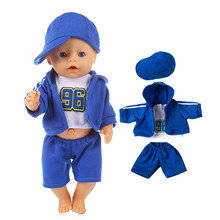 Handmade Doll Sportswear for 18 inch American Girl Doll 43cm Baby Born Doll Christmas Gifts for Children Doll Accessories(China)
