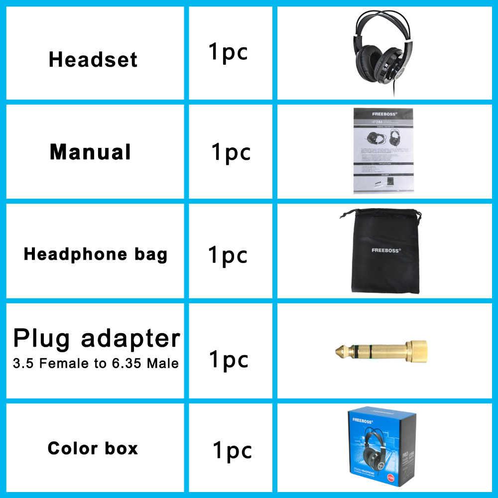 FREEBOSS HP288 Hi-Fi Tai Nghe Bán Mở Over 3.5 6.3 cắm Có Thể Điều Chỉnh và Trọng Lượng Nhẹ Đầu Tai Nghe Hifi tai nghe