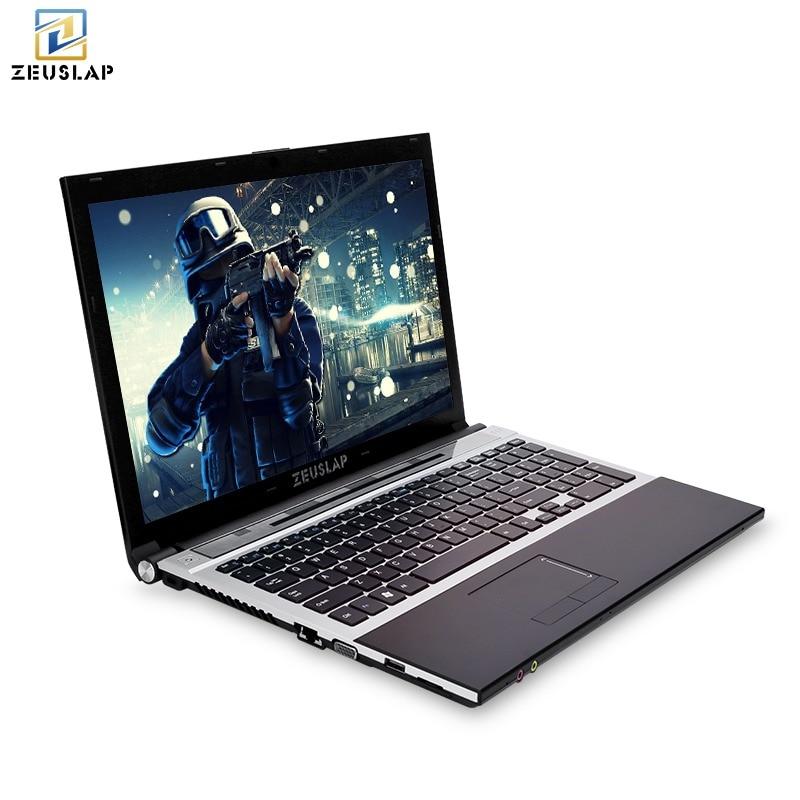 15.6 pouces intel core i7 8 gb ram 500 gb HDD 1920x1080 full hd écran Windows 10 système avec DVD ROM Portable PC Ordinateur portable