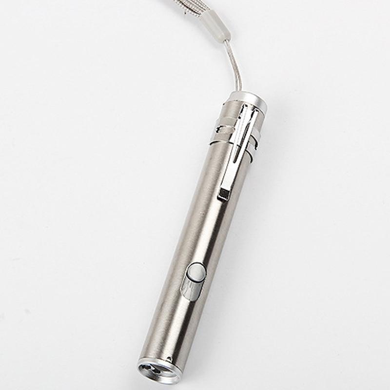 New Multifunction 3 In1 Portable Pocket Mini USB Rechargeable LED Laser UV Torch Pen Flashlight Multifunction Lamp HR