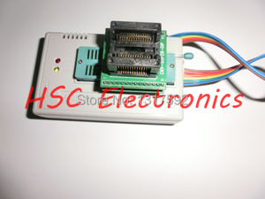 Image 4 - V7.03 TL866II PLU USB uniwersalny Minipro programista 9 sztuk adaptery + Test klip + 25 SPI Flash adapter