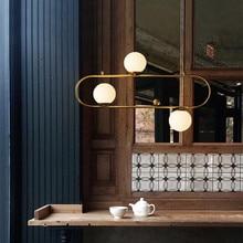 Decoración de estilo Industrial con diseño de hebilla colgante de luz nórdica Retro bola de cristal para Restaurante Salón de café