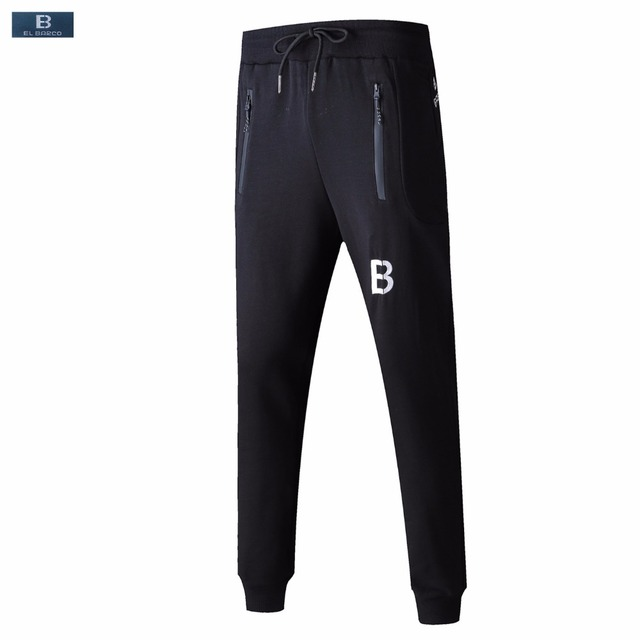 EL BARCO 2018 New Cotton Men Joggers Pants Casual High Quality Black Male Sweatpants Blue Grey Skinny Trousers Long Pantalon