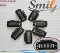 Free Shipping - 100pcs 3.2cm 9 Teeth Hair Extensions Tools / Wig Silicone Snap Clips for Hair Extensions/snap clips 5 colours