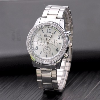цена на 2018 Famous Brand Casual Dress Quartz Watch Women Full Stainless Steel Luxury Men Watches Relogio Feminino Clock Relojes Mujer