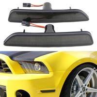 27 SMD High Power Amber Yellow LED Front Side Marker Lamps For 2010 2014 Ford Mustang