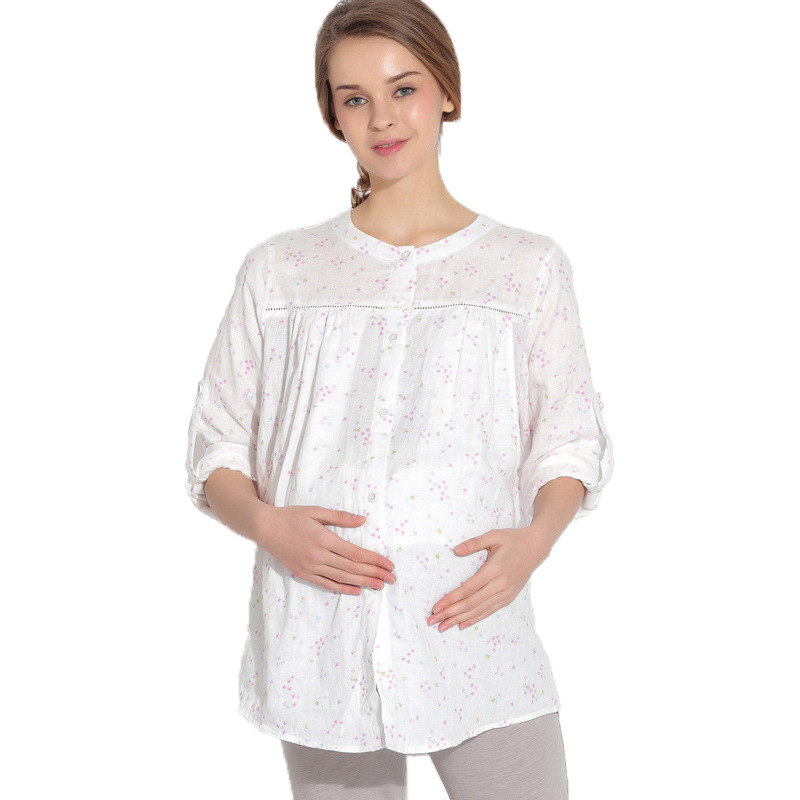 Cotton Maternity Pajamas Nursing Winter Maternity Sleepwear Long Sleeve Clothes Breastfeeding Pajama Autumn For Pregnant Women