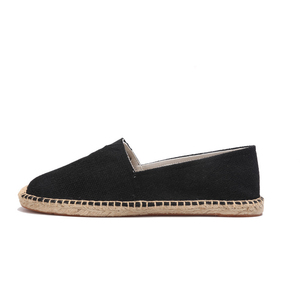Image 2 - OUDINIAO Hemp Wrap Mens Shoes Spring Espadrilles Men Canvas Shoes Men Breathable Mens Loafers Slip On Solid Black White