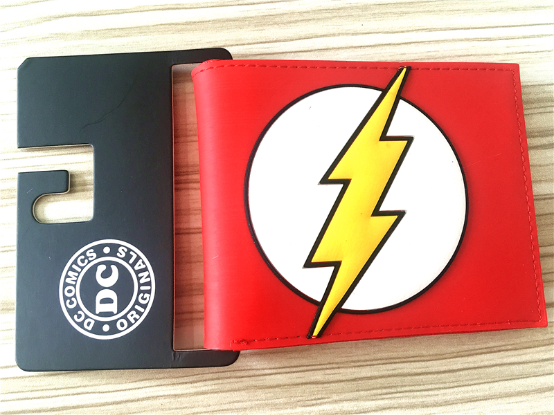 2016 New Wallet, DC Comics The Flash Short Wallets With Card Holder Photo Holder Purse,Cartoon Wallet W323 wallet comics dc marvel iron man movies short wallets with card holder purse leather cartoon bags men young