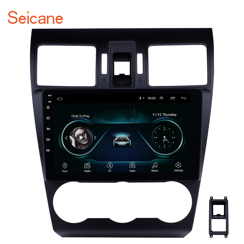 Seicane 9 Inch Android 8.1 Car GPS Bluetooth Radio For Subaru XR Forester Impreza 2013 2014 Navigation Unit Player Support TPMSSeicane 9 Inch Android 8.1 Car GPS Bluetooth Radio For Subaru XR Forester Impreza 2013 2014 Navigation Unit Player Support TPMS