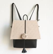 Новый оригинальный коллекция vintage рюкзак с цветком и печати женщины книга сумка сумка для молодой леди