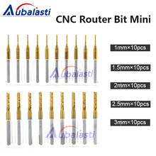 CNC Machine Router Bit Mini PCB Carbide End Mill Tools 3.175 Diameter Cutting Bits Milling Cutters Kit & cnc cutter milling