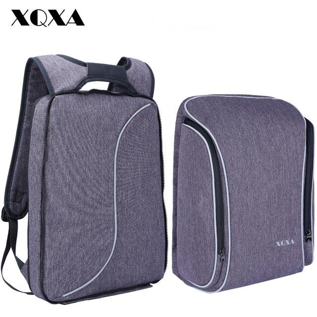XQXA Light Slim Backpack Men Lightweight 15.6 Inch Laptop Notebook Backpacks  Women Waterproof Thin Business Anti Theft Backpack 2276a99872729