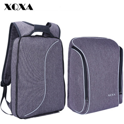 XQXA Light Slim Backpack Men Lightweight 15.6 Inch Laptop Notebook Backpacks Women Waterproof Thin Business Anti Theft Backpack