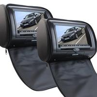 7 Inch LCD Dual Screen Portable DVD Player Black Pair Of Car Headrest Video Player LCD