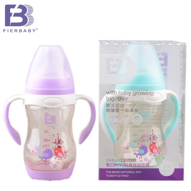 Fierbaby A nova chegada de um novo bebê garrafa Segura e não-toxicWide boca garrafa PPSU automático para as crianças made garrafa