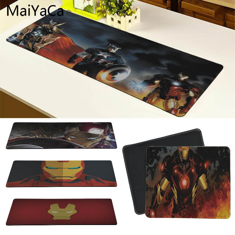 MaiYaCa супергероя Железный человек большой Мышь pad PC компьютер коврик Размеры для 30x90 см и 40x90 см игровой Мышь колодки