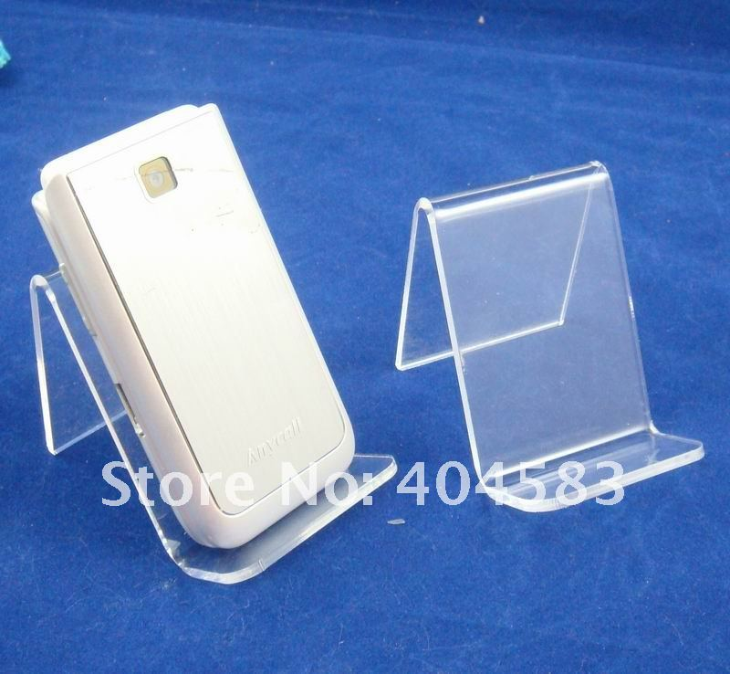 25 pcs lot Clear view Mobile display stand wallet display stand holder rack Clear with matting