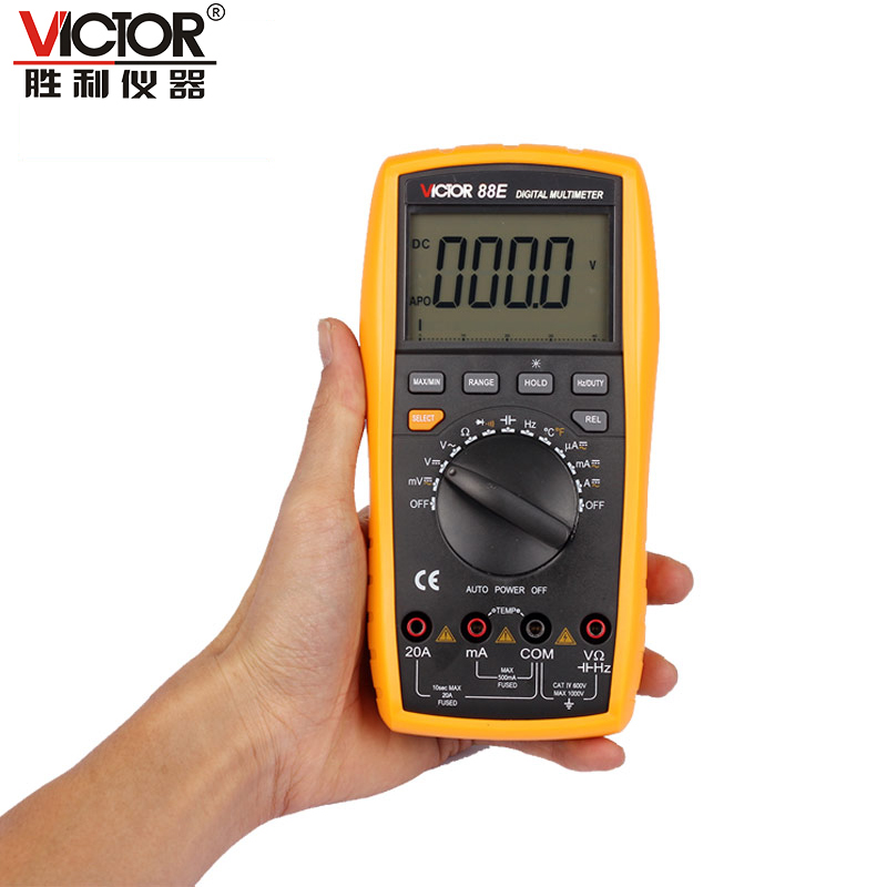 ФОТО 1pcs Victor VC88E Multimeter Professional Manual Range 2000 Counts 20A 1000V Resistance Capacitance Inductance Temperature